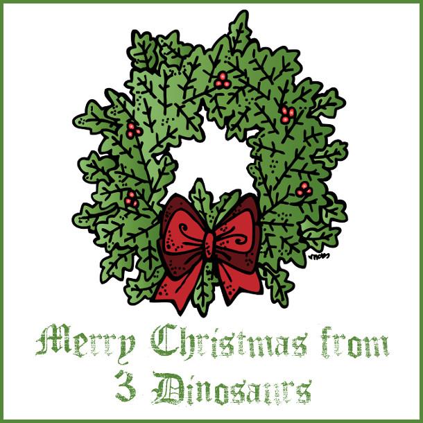 Merry Christmas by 3Dinosaurs.com