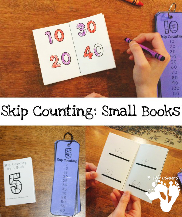 FREE Skip Counting Small Books - 3Dinosaurs.com