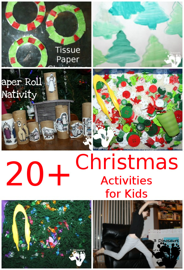 Christmas Crafts & Activities from  3Dinosaurs.com