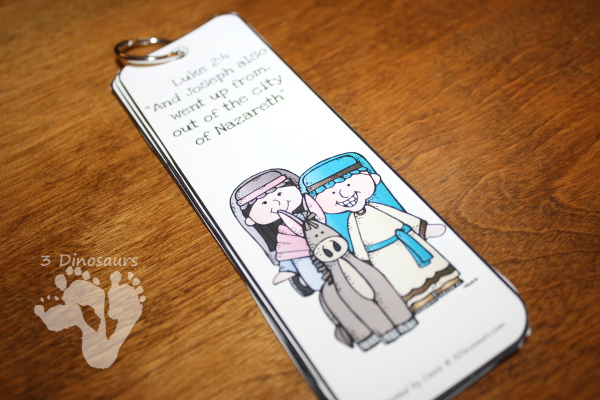 Free Nativity Themed Bookmarks - 8 different ones to pick from with matching scriptures - 3Dinosaurs.com
