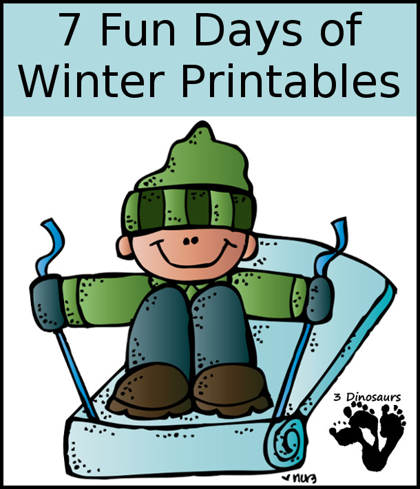 7 Fun Days of Winter Printables - 3Dinosaurs.com