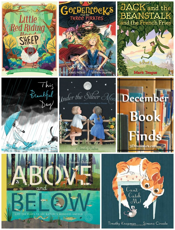 Great Book Finds For December 2017: animals, cat, Goldilocks, jack and the beanstalk, kids, mouse, night, nursery rhyme, peoms, rain, red riding hood. - 3Dinosaurs.com