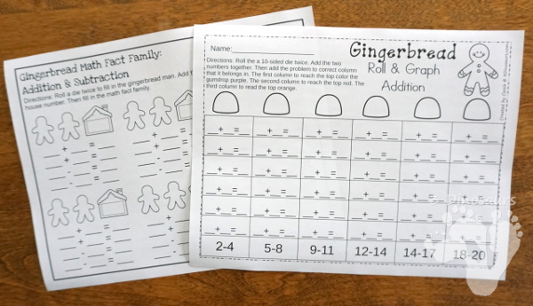 No-Prep Gingerbread Math Printables For Multiplication & Division - 30 pages in each set with review sheets at the end - 3Dinosaurs.com