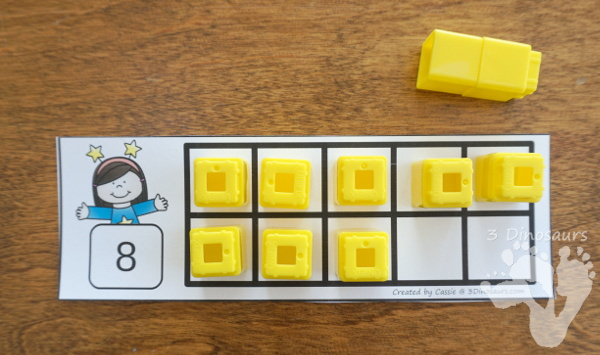Free New Years Ten Frame - 2 sets with numbers 1 to 10 with filled out and blank options - 3Dinosaurs.com