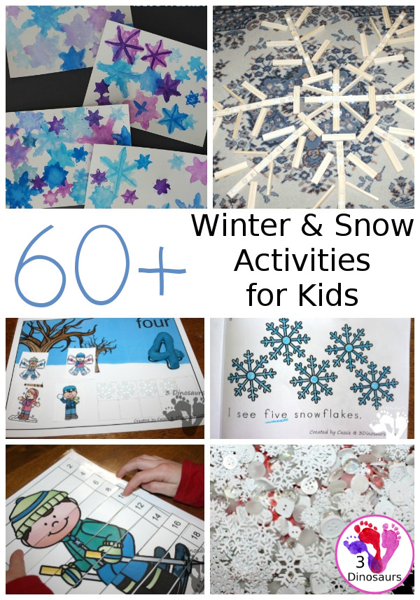 Winter & Snow Activities & Printables - 3Dinosaurs.com