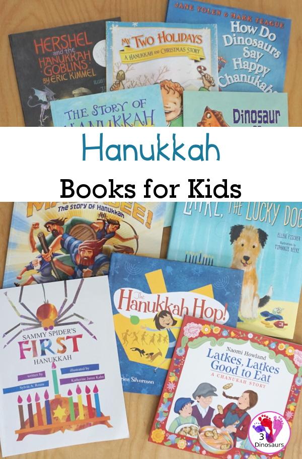 10+ Hanukkah Books that we love to read for the 8 night of Hanukkah - 3Dinosaurs.com