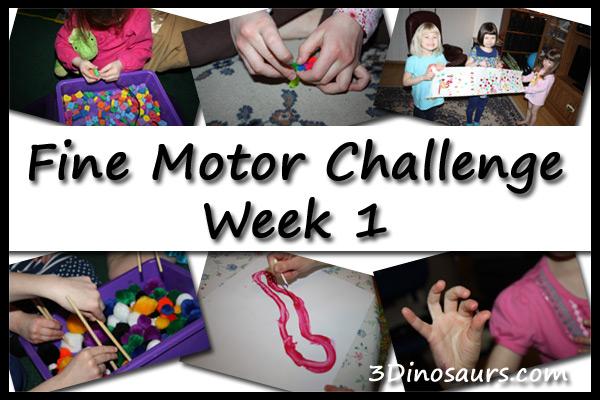 Fine Motor Challenge Week 1