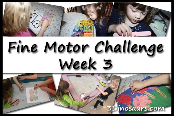 Fine Motor Challenge Week 3