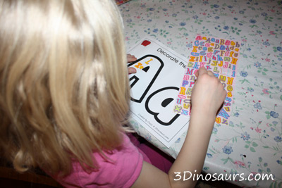 Stickers on Letters