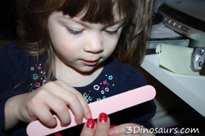 Filing Finger Nails