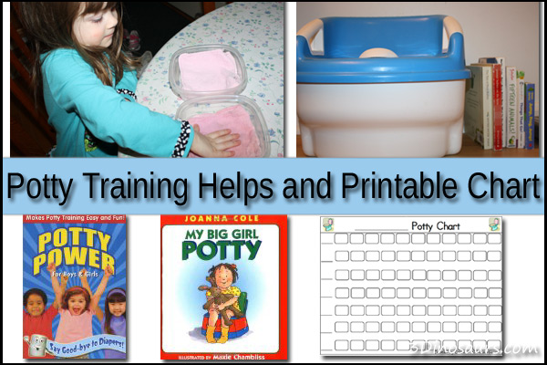 Potty Training Helps and Printable Chart