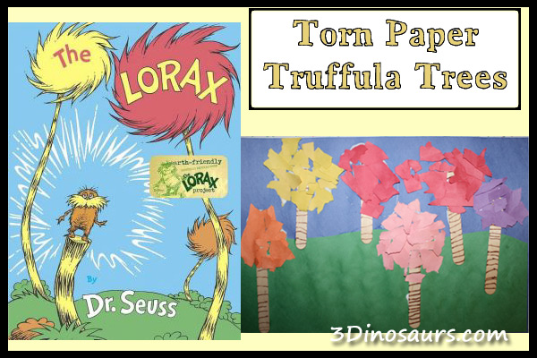 Torn Paper Truffula Trees The Lorax 3 Dinosaurs