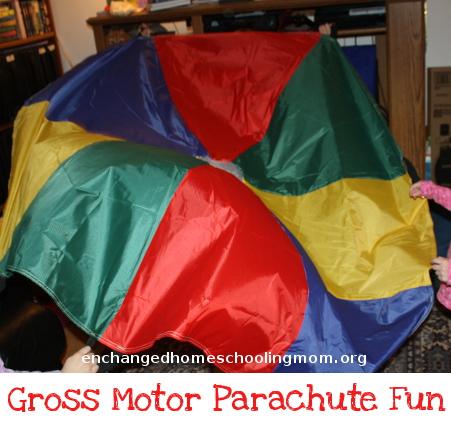 Gross Motor Fun with a Parachute - 3Dinosaurs.com