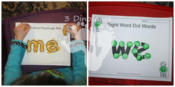 Romping & Roaring Preprimer Sight Words - 3Dinosaurs.com