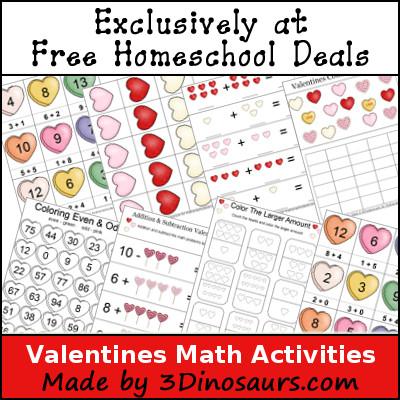 Free Valentines Math Printables