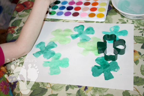 Clover Watercolor Painting - 3Dinosaurs.com