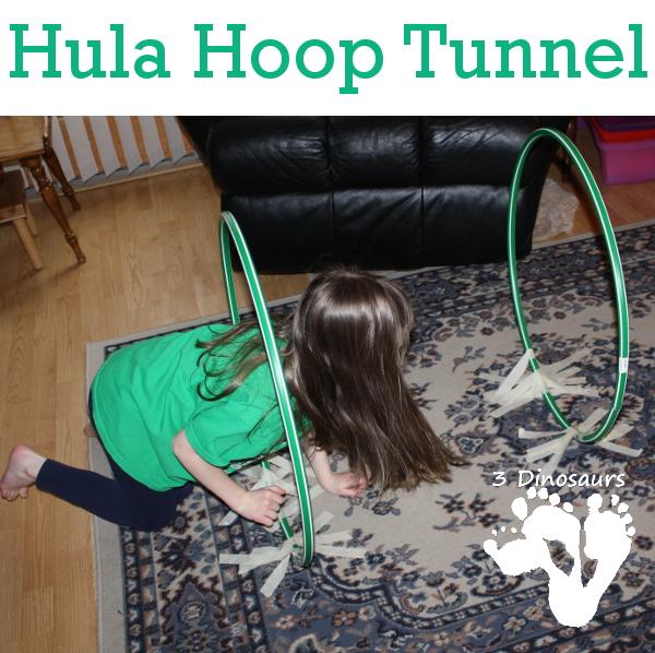 Gross Motor: Hula Hoop Tunnel - 3Dinosaurs.com