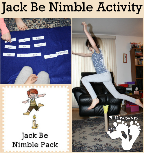 Jack Be Nibble Activity & Free Pack - 3Dinosaurs.com