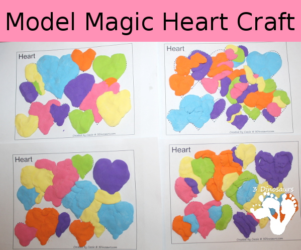 Model Magic Heart Craft - 3Dinosaurs.com