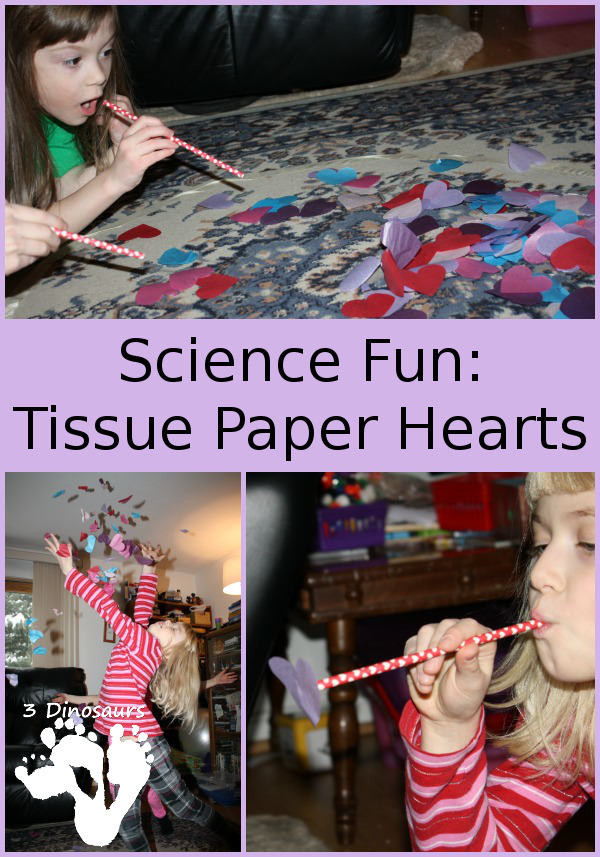 Science Fun with Tissue Paper Hearts - 3Dinosaurs.com