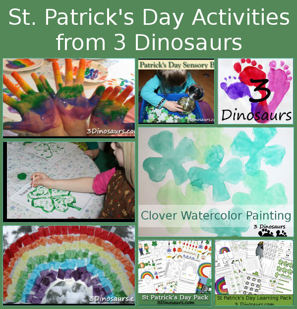 St Patrick's Day Printables & Activities on 3 Dinosaurs