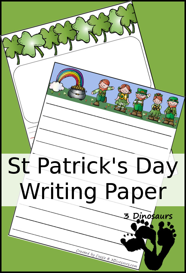 Free St Patrick's Day Writing Paper Printable - 3Dinosaurs.com