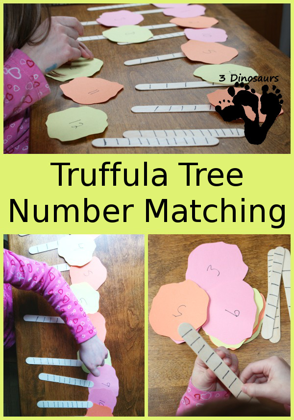Truffula Tree Number Matching - 3Dinosaurs.com