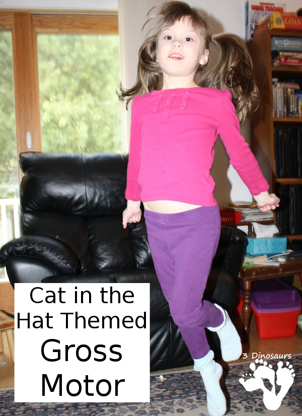 Cat in the Hat Themed: Gross Motor Activity - Fun ideas to get your moving with the book - 3Dinosaurs.com