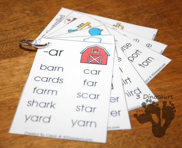 Free R-Controlled Vowel Wall Cards - 3Dinosaurs.com