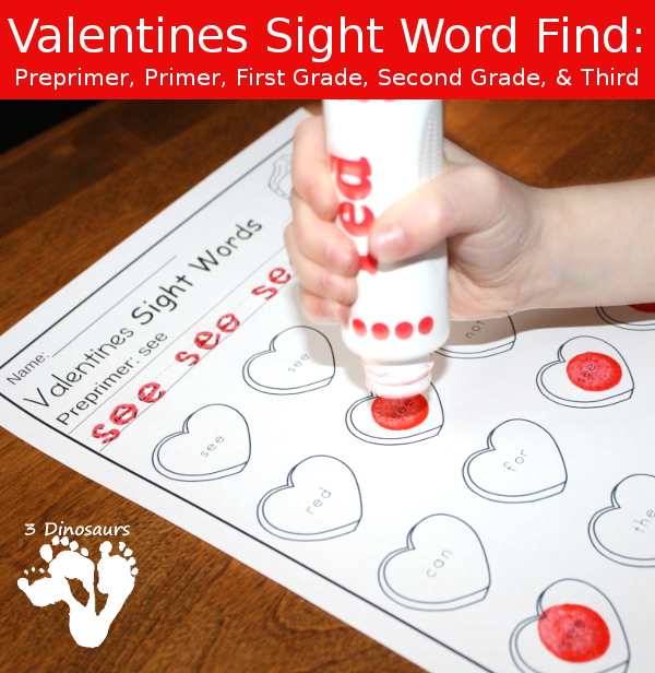 Valentines Sight Word Finds