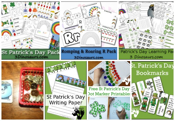 20+ St Patrick's Day Printables & Activities on 3 Dinosaurs - 3Dinosaurs.com