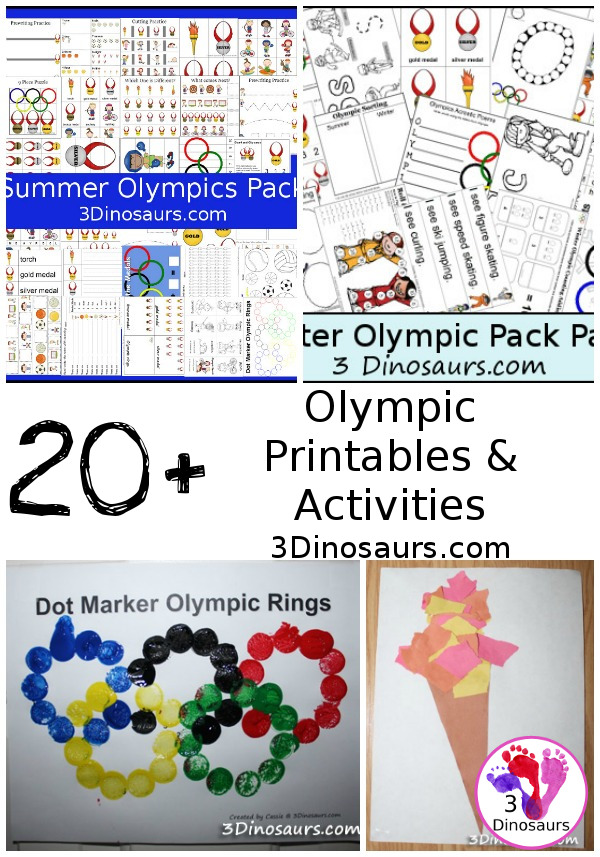 Olympic Activites & Printables - 3Dinosaurs.com