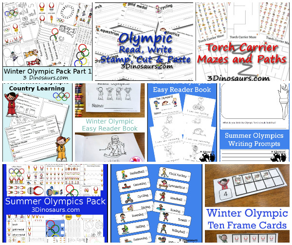 20+ Olympics Printables & Activities  - 3Dinosaurs.com