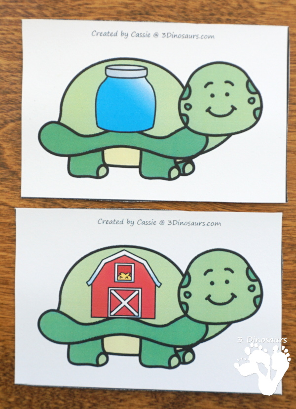Free Turtle Themed R-Controlled Vowel Sorting - 5 sorting mats with 10 matching cards also includes a matching worksheet - 3Dinosaurs.com
