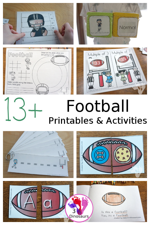 Football Activities & Printables on 3Dinosaurs.com