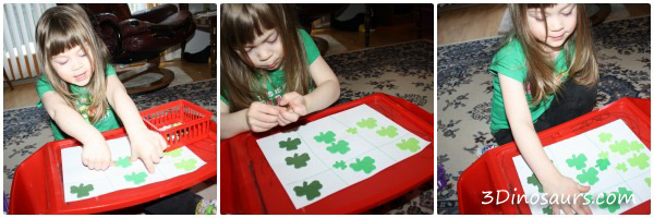Clover Sorting by Size & Color