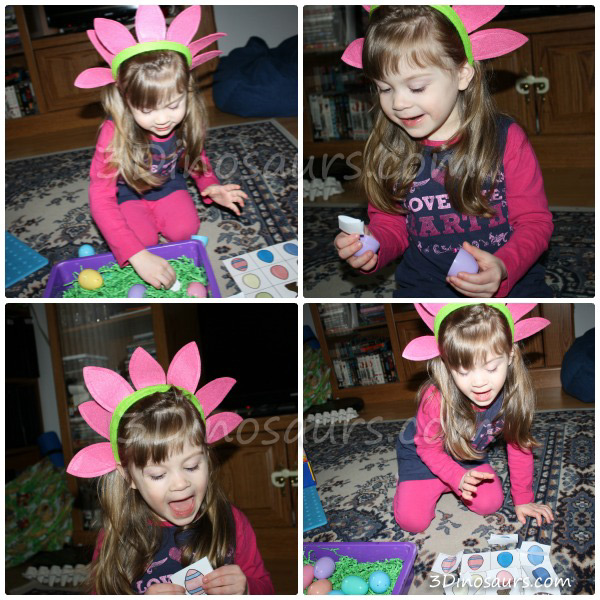 Easter Egg Matching Sensory Bin