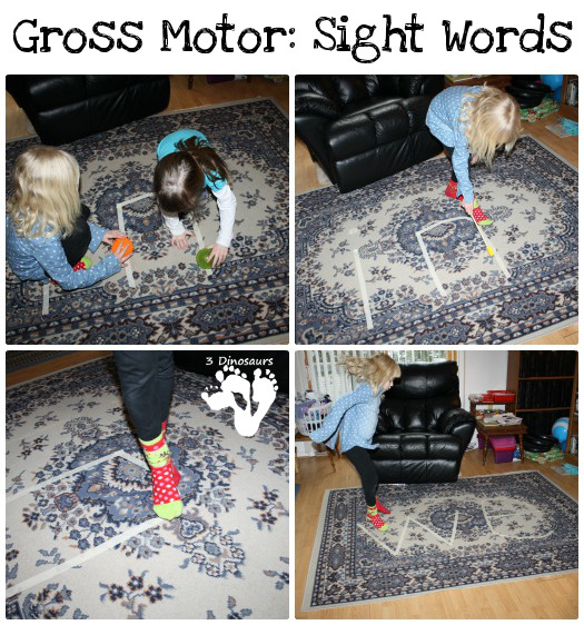 Gross Motor Sight Words - 3Dinosaurs.com