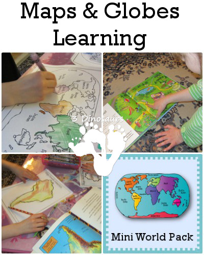 photograph relating to Printable Globes referred to as Maps Entire world Studying with Printables 3 Dinosaurs