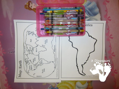 Maps & Globe Learning with Printables - 3Dinosaurs.com