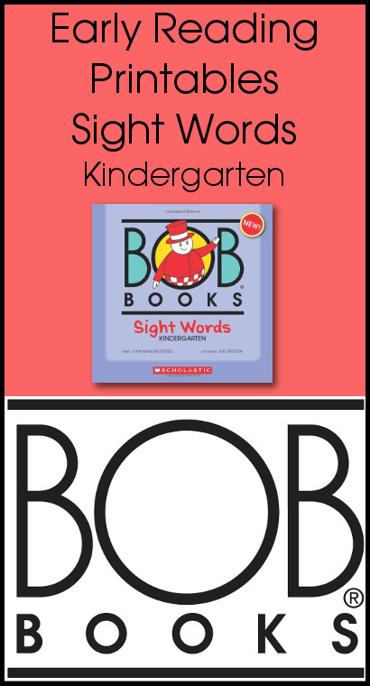 Early Reading Printables BOB Books Sight Words Kindergarten Book 1 & 2 - 3Dinosaurs.com