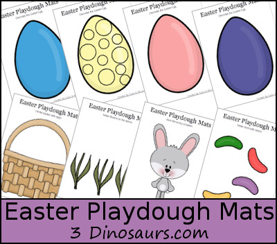 Free Easter Playdough Mats Printable - 3Dinosaurs.com