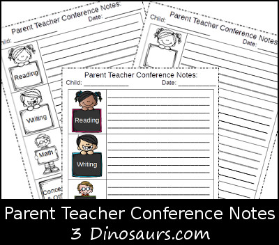 Free Parent Teacher Conference Notes Printable