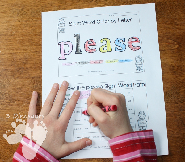Free Romping & Roaring Primer Sight Words Packs Set 7 - 3Dinosaurs.com