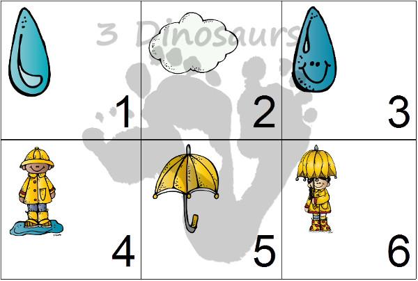 Free 2016 Rain Calendar - 3Dinosaurs.com