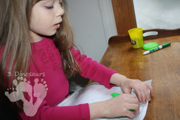 Free Shape Playdough Mat with Tracing Shape & Word - 3Dinosaurs.com