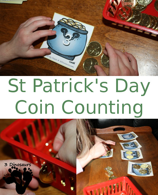 Free St Patrick's Day Coin Counting Printable - 3Dinosaurs.com