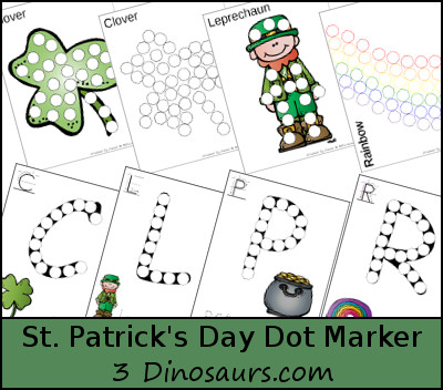Free St Patrick's Day Dot Marker Printable - 3Dinosaurs.com