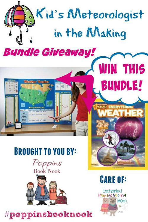 Poppins Book Nooks Kid's Meteorologist in the Making Bundle Giveaway - 3Dinosaurs.com