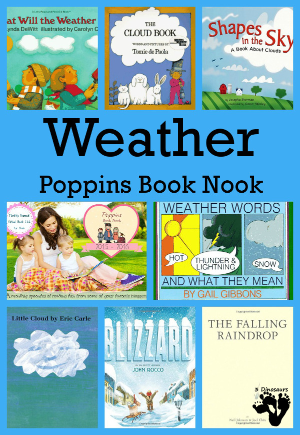 EMarch Poppins Book Nook: Weather - Plus a New Year schedule - 3Dinosaurs.com